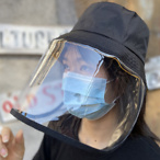 Special Protective Pvc Mask Bucket Hat Suitable For Adult
