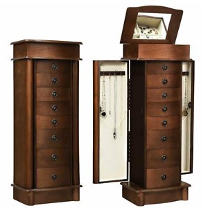 Home Depot: Costway Jewelry Box Wood Cabinet Armoire Storage Chest Box