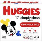 Huggies Simply Clean 宝宝湿巾 无香型11宝,共704片