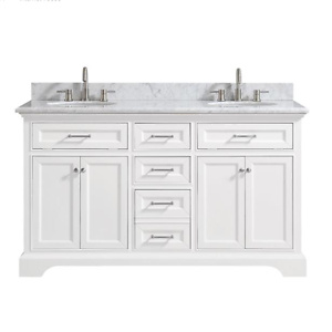 Home Depot: Windlowe 61 in. W x 22 in. D x 35 in. H Bath Vanity in White