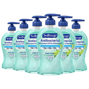 Softsoap Antibacterial Liquid Hand Soap, Fresh Citrus - 11.25 fluid ounce (6 Pack)