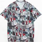 Marvel Spider-Man Allover Print Camp Collar Pocket Shirt