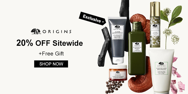 Origins: 20% OFF Sitewide+Free Gift