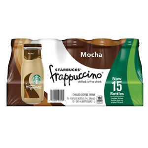 Sams Club: Starbucks Frappuccino Coffee Drink, Mocha (9.5 oz., 15 pk.)
