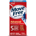 Schiff Move Free Advanced Triple Strength Glucosamine Chondroitin, Coated Tablets 80.0ea