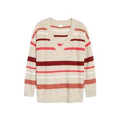 CASLON V领针织衫