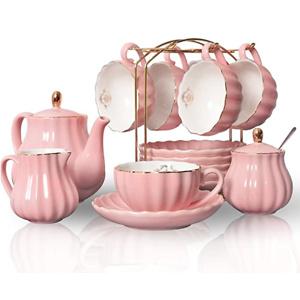 Pukka Home 超美陶瓷茶壶茶杯6组套装 3色可选