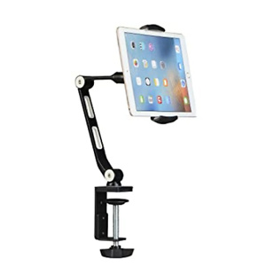 Suptek Aluminum Tablet Desk Mount Stand 360° Flexible Cell Phone Holder