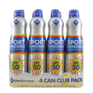 Sams Club: Member's Mark Sport SPF 50 Continuous Spray Sunscreen