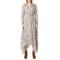 maje Floral Long Sleeve Dress