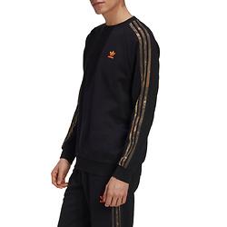 ADIDAS ORIGINALS Camo 3-Stripes Crewneck Sweatshirt