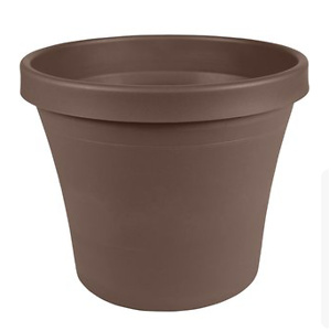 "Bloem Terra Plastic Pot Planter 6"" Chocolate"