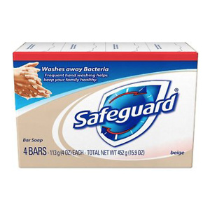 Safeguard Bar Soap, Scented, 4 Oz