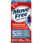 Schiff Move Free Joint Health Glucosamine Chondroitin Plus MSM & Vitamin D3, Tablets 80.0ea