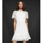 LACE MINI DRESS IN WHITE