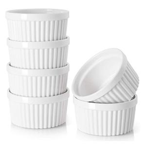 DOWAN 4 Oz Porcelain Ramekins - Souffle Dish