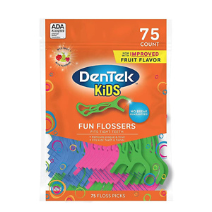 Dentek Kids Fun Flossers, 75 Floss Picks