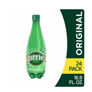 Perrier Sparkling Natural Mineral Water (Pack of 24)