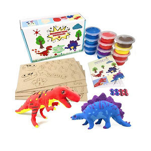 UNGLINGA  Air Dry Clay Dinosaur Figures Kids Arts and Crafts Toys