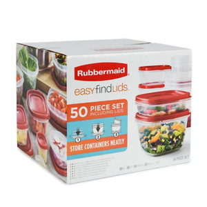 Sams Club: Rubbermaid 50-Piece Easy Find Lids Food Storage Set for $19.98