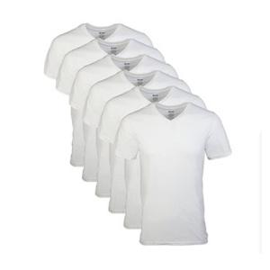 Gildan 男士V领纯棉T恤 6件装 M码