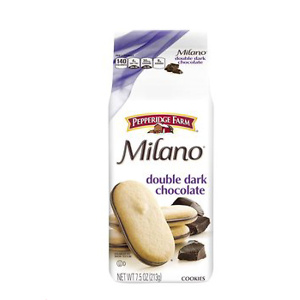 Pepperidge Farm, Milano, Cookies, Double Dark Chocolate, 7.5 oz, Bag, 3-count