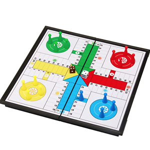 "Amerous 10"" Ludo Go Board Folding Travel Magnetic Ludo Set"