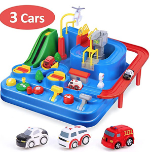 CubicFun Race Tracks for Boys Car Adventure Toys