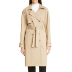 ST. JOHN COLLECTION Luxe Stretch Twill Trench Coat