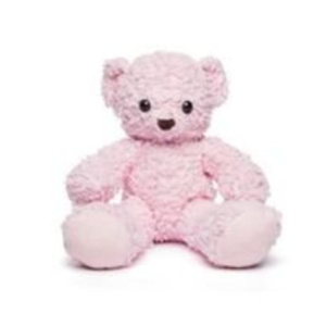 "Bears For Humanity Organic 16"" Pink Sherpa Plush Bear"