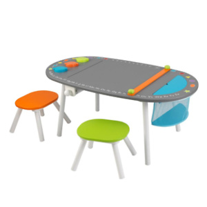 Home Depot: KidKraft Chalkboard Art Table with Stools for $96.79