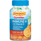 Emergen-C Immune+ Gummies, Vitamin D plus 750 mg Vitamin C, 45 Count