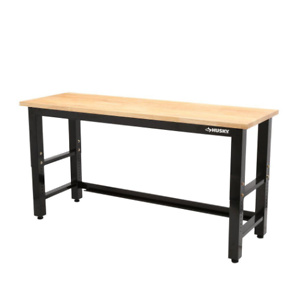Home Depot: Husky 6 ft. Adjustable Height Solid Wood Top Workbench