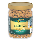 PLANTERS Fancy Whole Cashews with Sea Salt