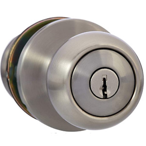 AmazonBasics Exterior Door Knob With Lock
