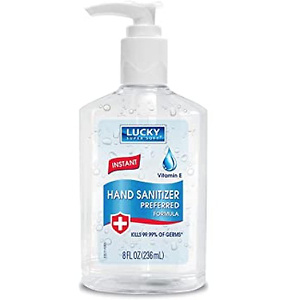 Lucky Super Soft Hand Sanitizer, Clear, 8 Fluid Ounce