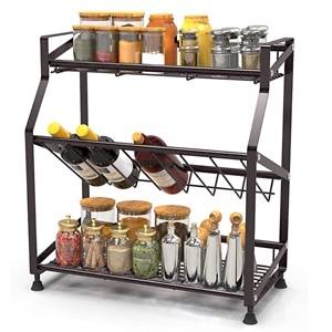 Spice Rack 2-Tier iSPECLE Kitchen Bathroom Organizer