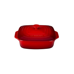 LE CREUSET 2 3/4 Quart Covered Square Stoneware Casserole
