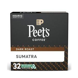 Peet's Coffee Sumatra 深培k cup 咖啡胶囊32颗
