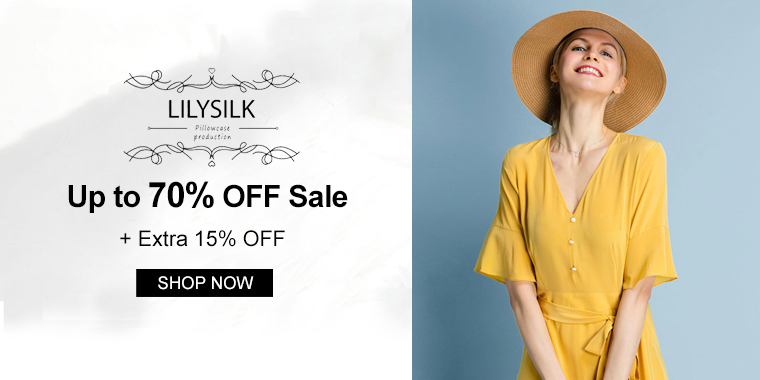 LilySilk: Up to 70% OFF Sale + Extra 15% OFF