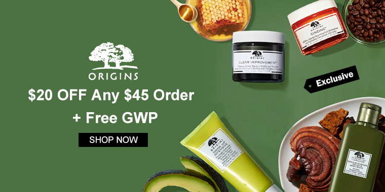 Origins: $20 OFF Any $45 Order + Free GWP