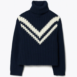 MERINO CHEVRON TURTLENECK SWEATER