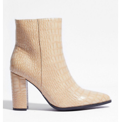 Croc My World Faux Leather Ankle Boots
