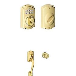 Schlage西勒奇BE365 密码自动门锁 + 把手 套装