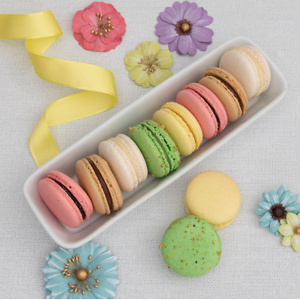 Gourmet Gift Baskets: French Macarons For $34.99