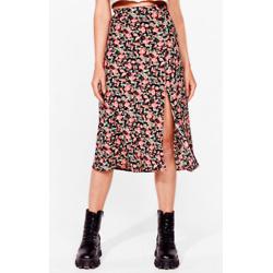 Leaf It to Me Slit Midi Skirt