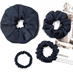 4 Pack Different Silk Hair Scrunchies Set