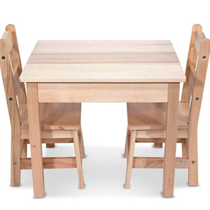 Melissa & Doug Tables & Chairs 3-Piece Set - Natural