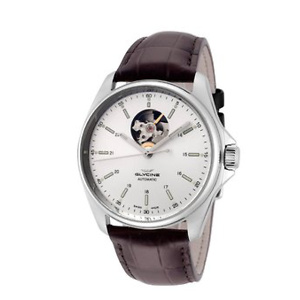 GLYCINE Combat Classic Open Heart Men's Dress Watch