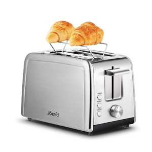Toaster 2 Slice, Joerid Best Prime Rated Stainless Steel Toaster with Warming Rack